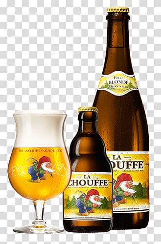 La Chouffe bottle, La Chouffe Blonde Glass Bottle.