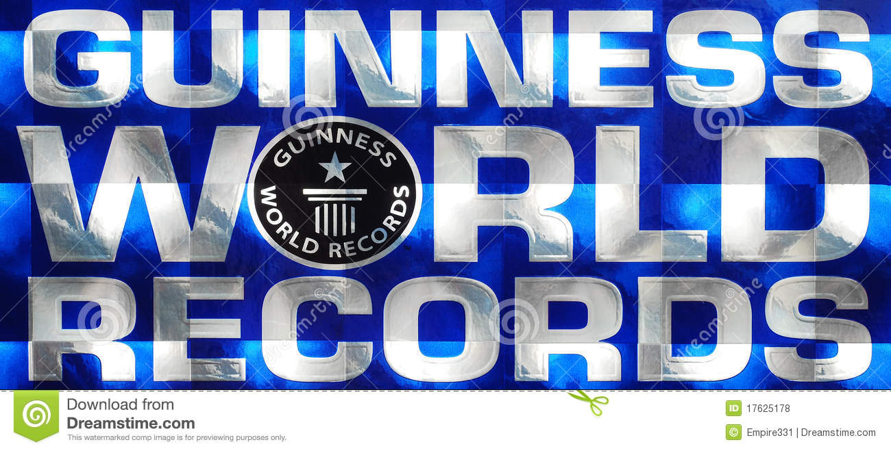Guinness World Records Logo Editorial Stock Photo.