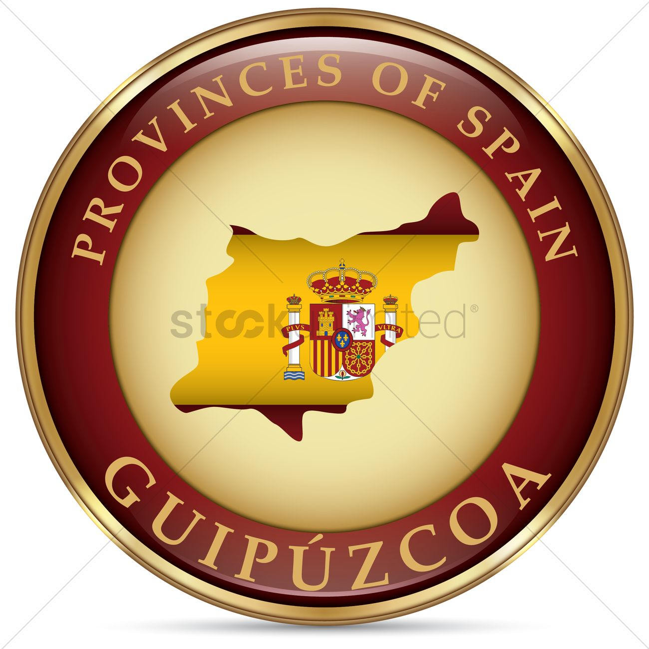 Guipuzcoa map Vector Image.