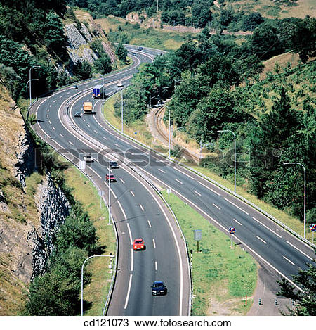 Stock Photo of Freeway Bilbao.