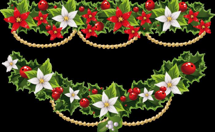 Guirnalda Navidad Png Vector, Clipart, PSD.