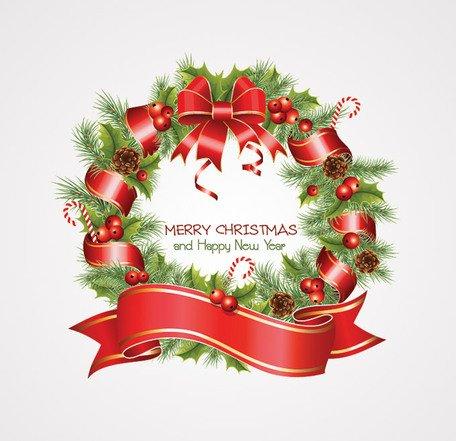 Guirnalda de Navidad Clipart Picture Free Download.