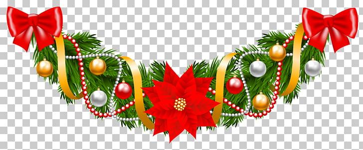 Guirnalda verde ilustración, guirnalda, navidad deco.