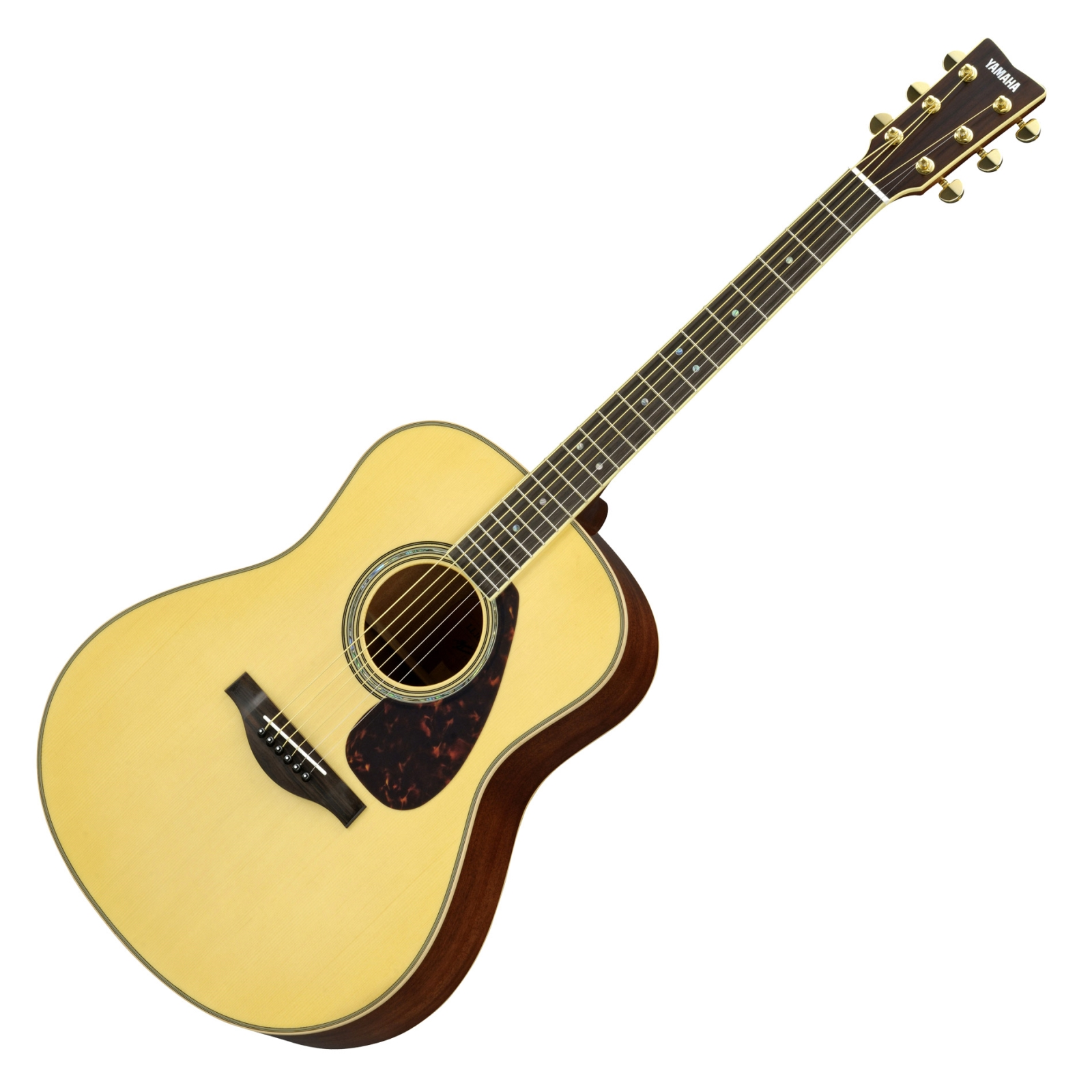 Yamaha LL16M A.R.E. Handcrafted Acoustic Guitar Bundle With Hard.