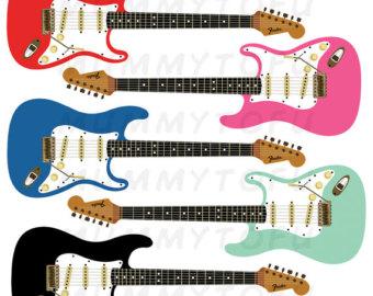 Fender guitar art.