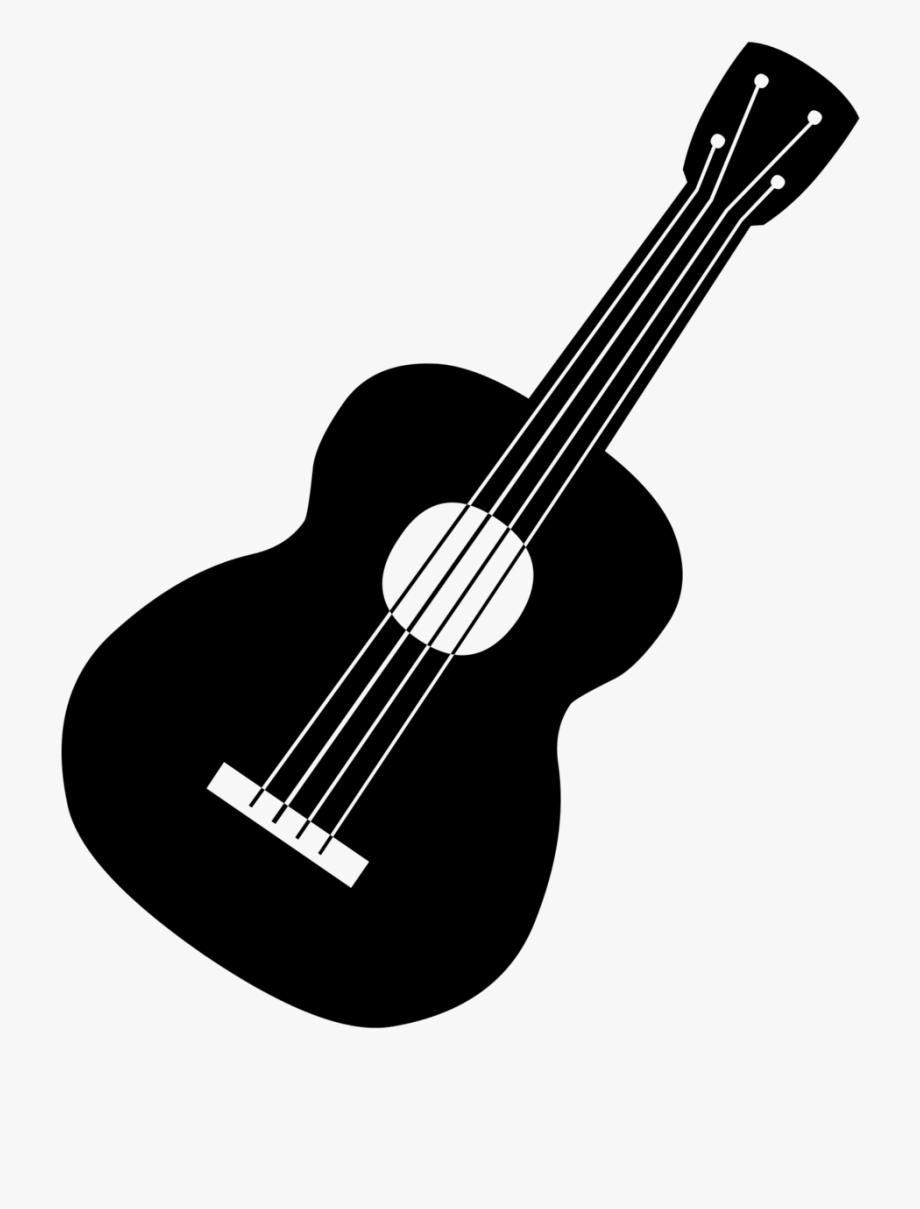 Guitar Clip Art Image Black A.