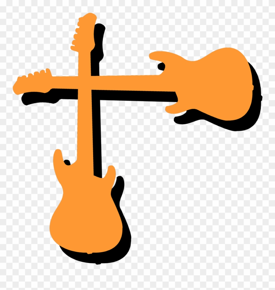 Cartoon Guitar Clipart.