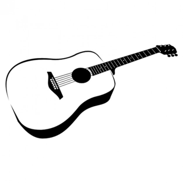Free Black And White Guitar, Download Free Clip Art, Free Clip Art.