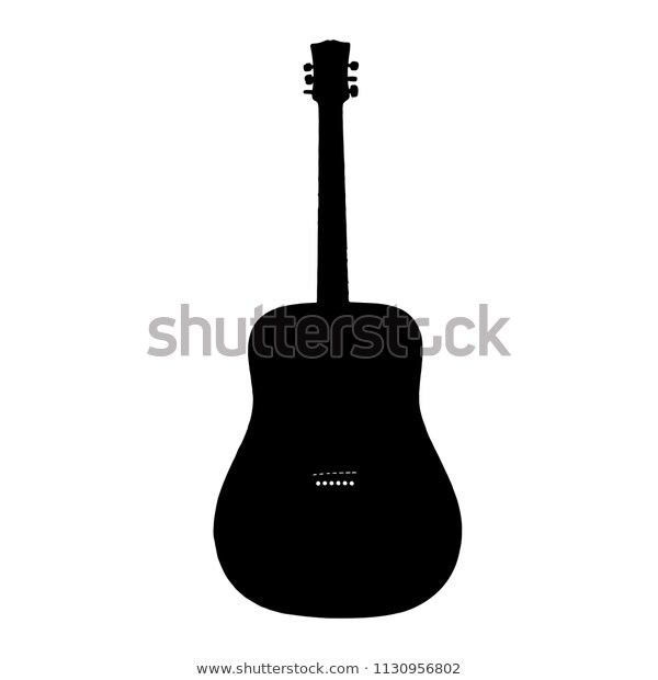 Guitar Clip Art Silhouette Design By Stock Vector (Royalty Free.