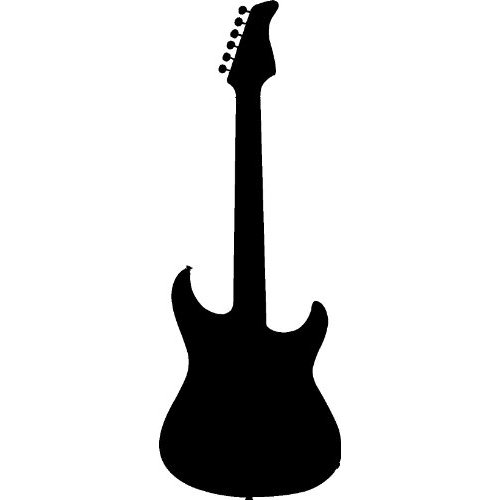 Silhouette Pattern Guitar Cross Stitch.