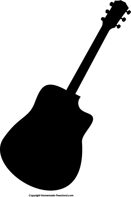 Free Acoustic Guitar Silhouette, Download Free Clip Art, Free Clip.
