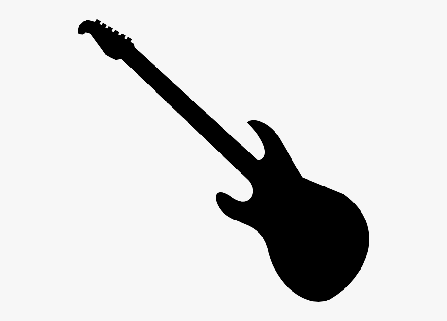 Clipart Of Guitar, Guitar And And Bass Outline.