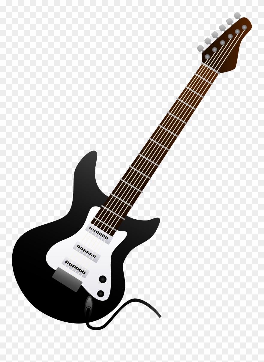 Acoustic Guitar Clipart Clip Art Black.