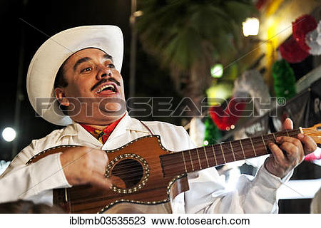 "Stock Photo of ""Mexican musician in the Plaza Garibaldi, Mexico."