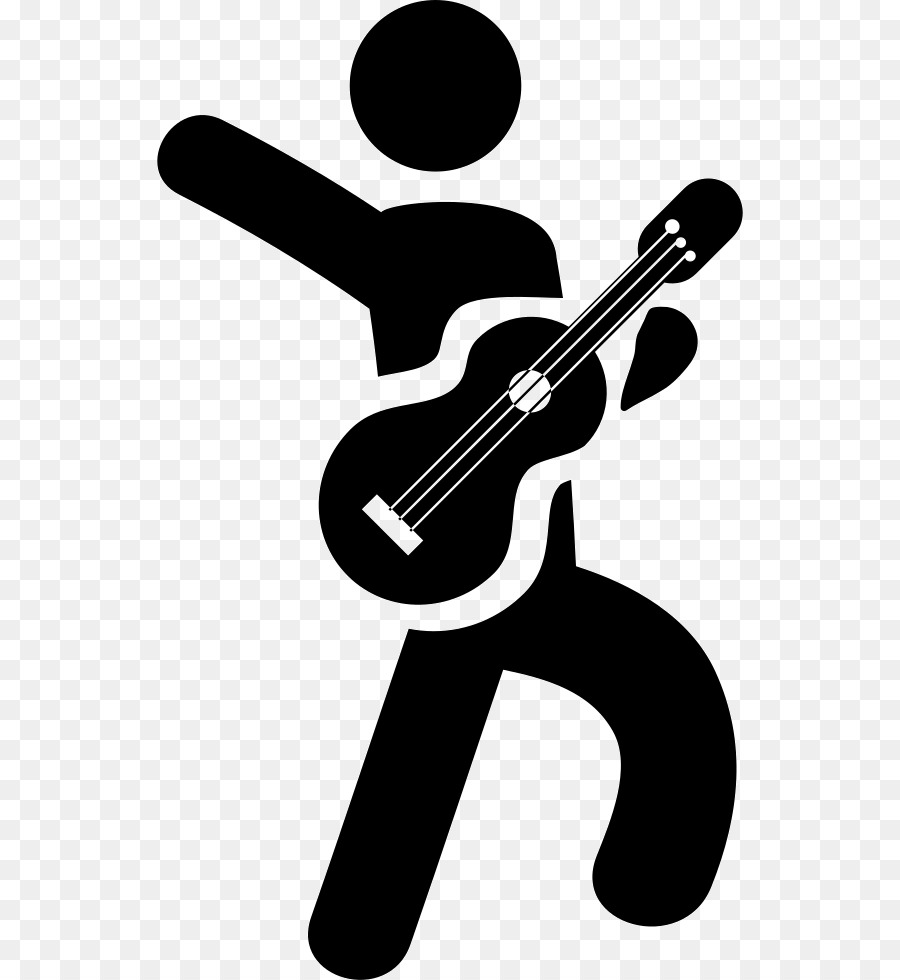 Guitar Cartoon clipart.