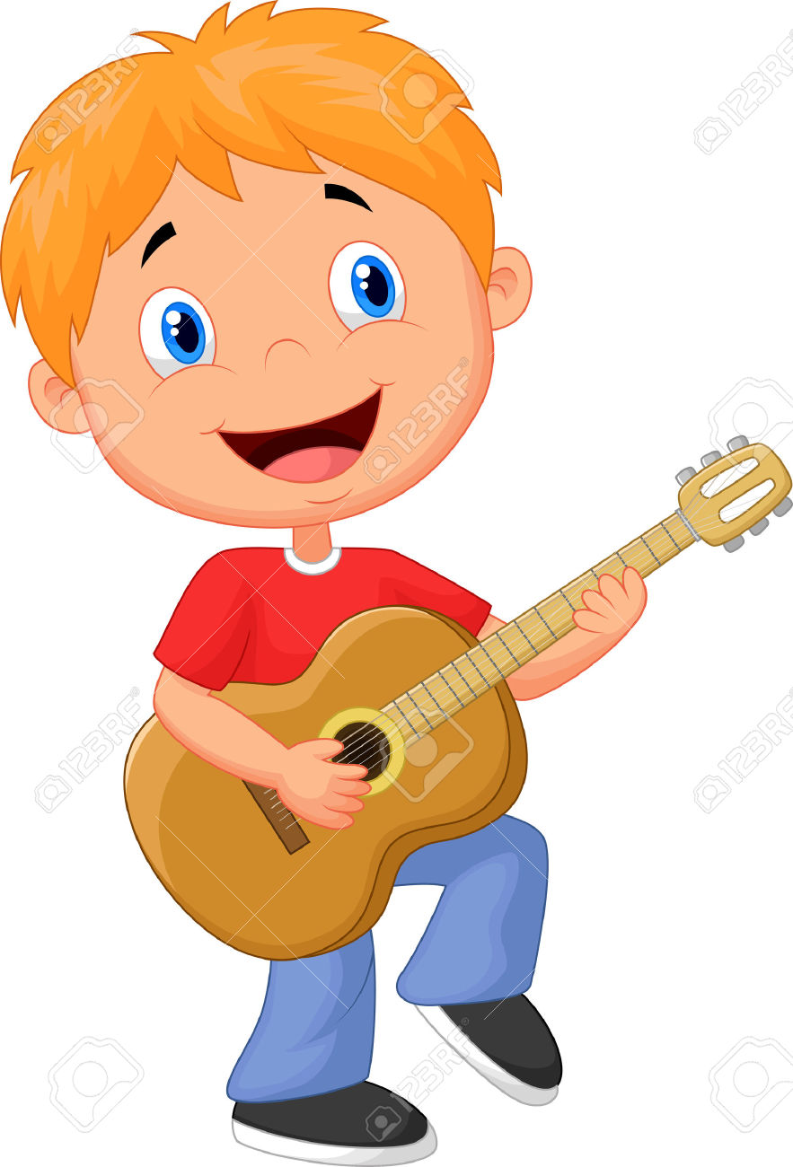 playing guitar clipart.
