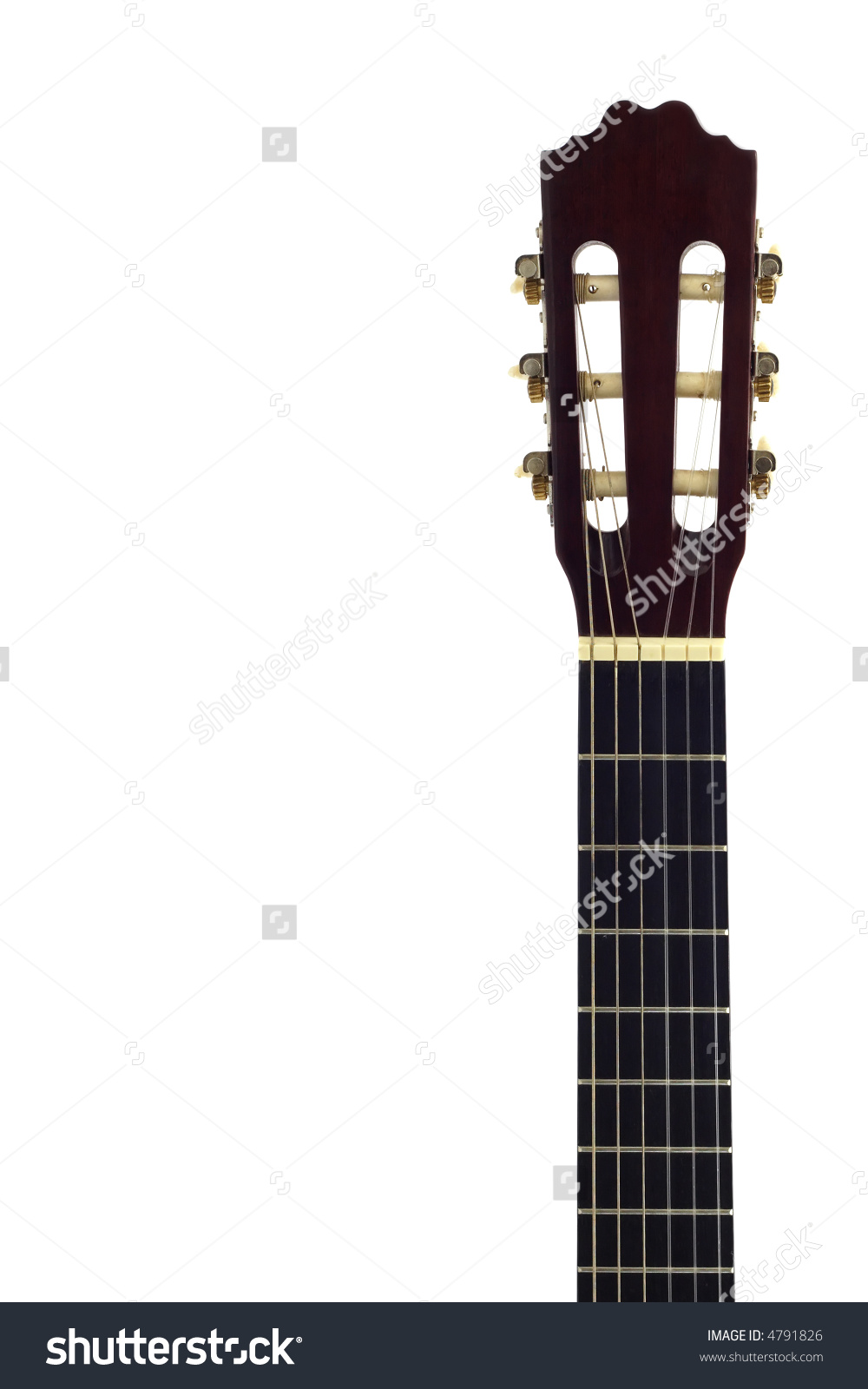 Acoustic Guitar Neck Isolated On White Stock Photo 4791826.