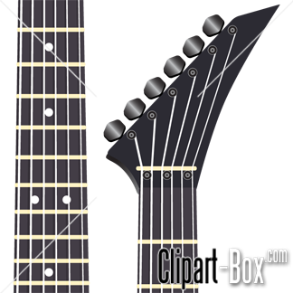 CLIPART ELECTRIC GUITAR HEAD.