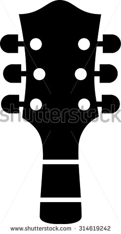 Guitar Head Stock Photos, Royalty.