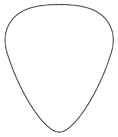 Guitar Pick Clipart.