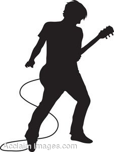Man Playing Guitar Clipart.