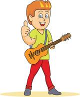 Clipart guitar player.