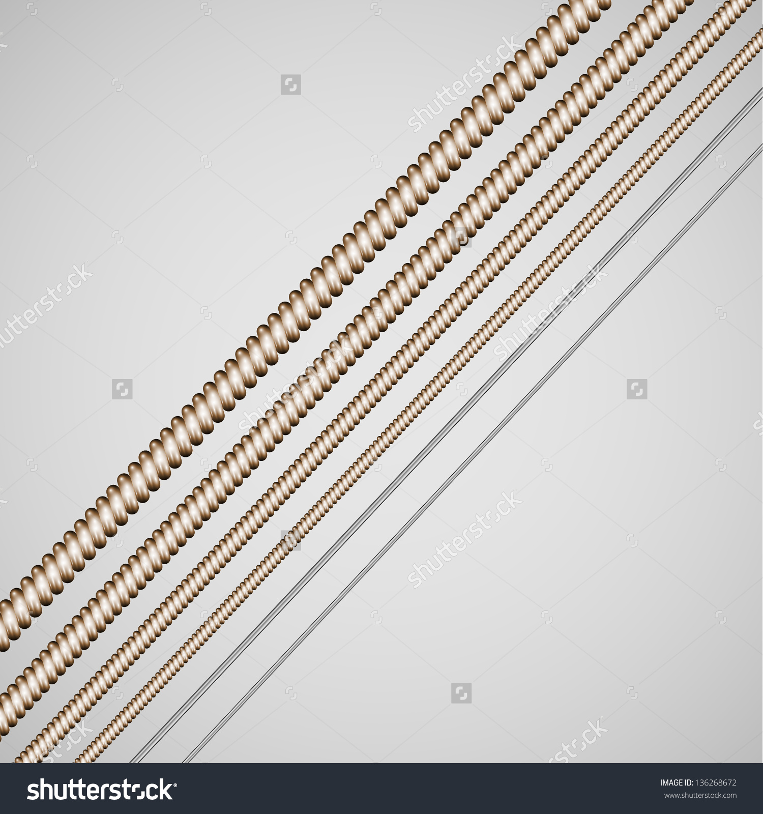 Vector Guitar Strings Stock Vector 136268672.