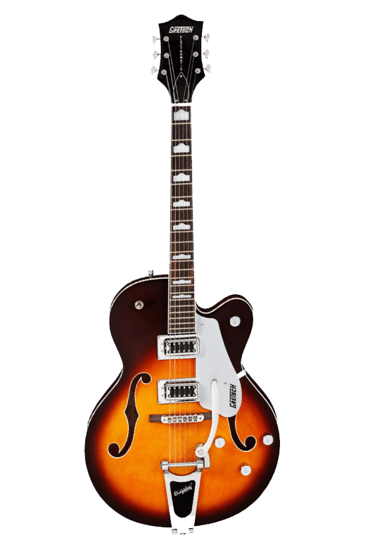 Gretsch guitar transparent background music image.