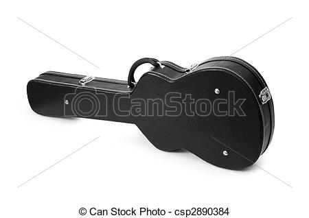 Stock Photo of Black guitar case isolated on the white csp2890384.