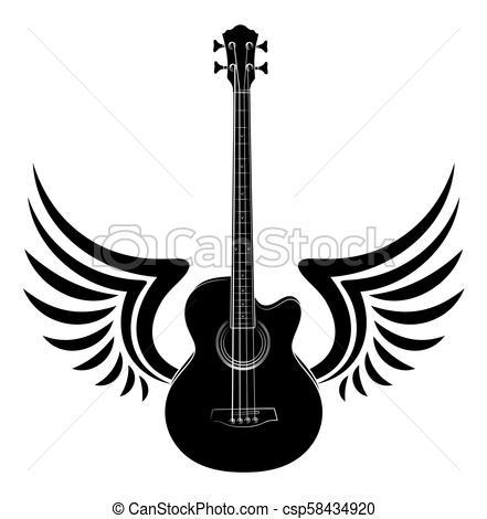 Guitar with wings clipart 1 » Clipart Portal.