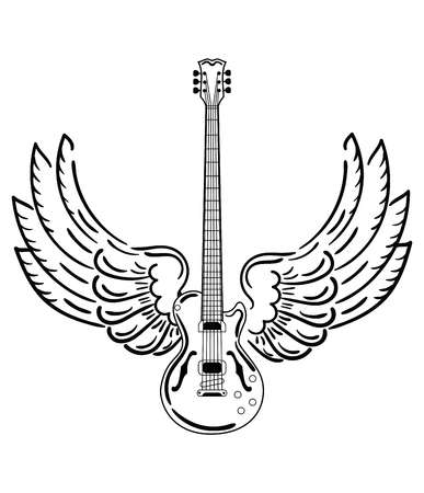 1,330 Guitar Tattoo Stock Illustrations, Cliparts And Royalty Free.