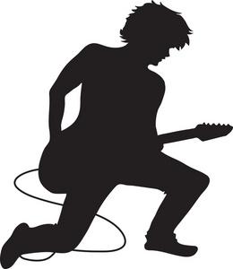 Female Guitarist Clipart.