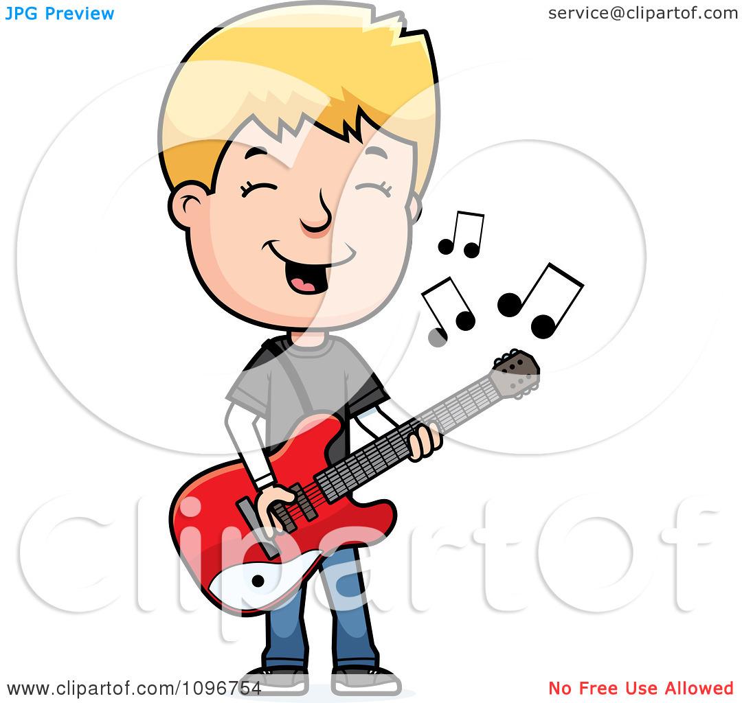 Clipart guitarist.