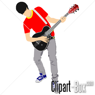 CLIPART YOUNG GUITARIST.