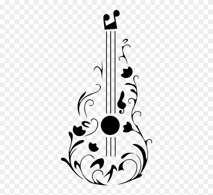 Dibujos De Guitarras Y Notas Musicales Clipart (#2209603.