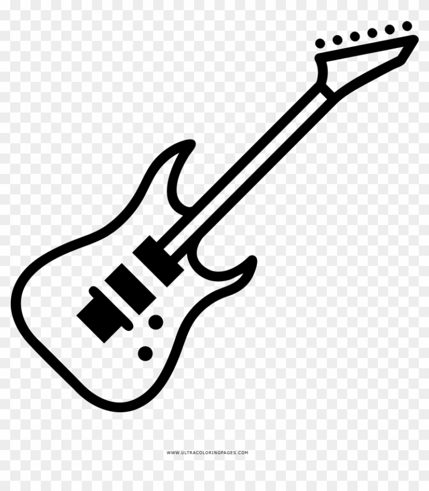 Guitarra Electrica Dibujo Png.