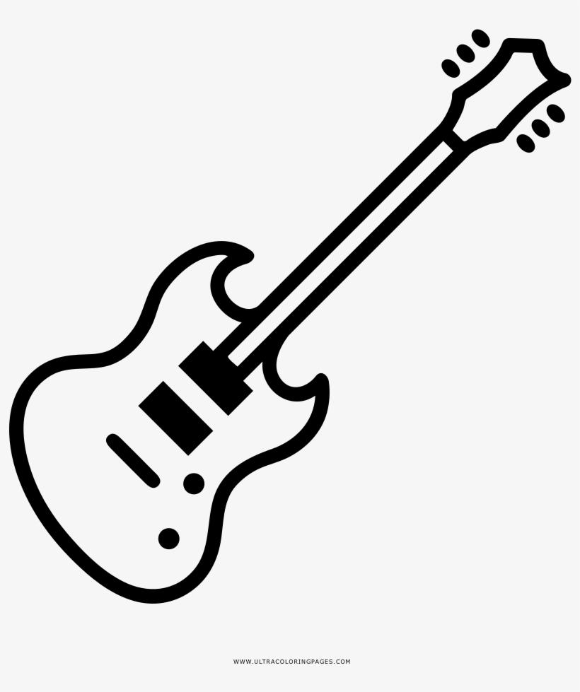 Dibujo De Guitarra Eléctrica Para Colorear.
