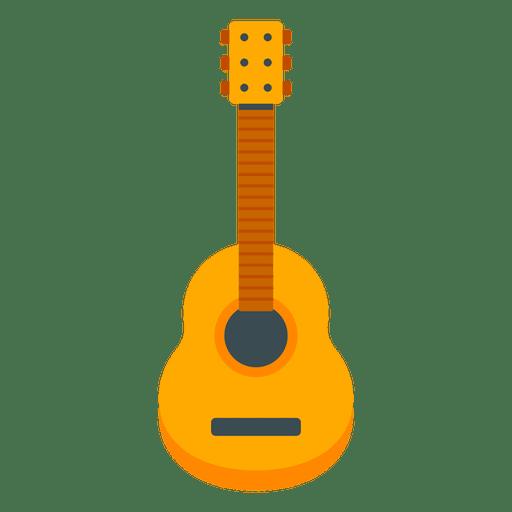 Ilustración de guitarra plana.