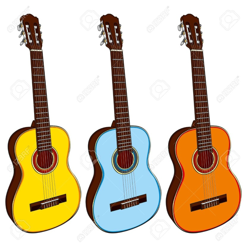Country music guitar clipart.