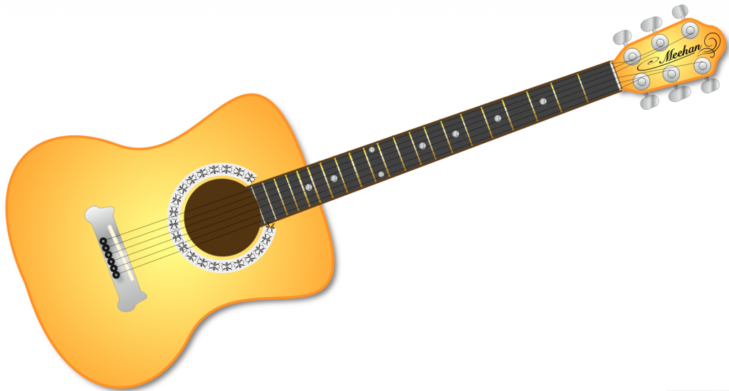 Cross and guitar clipart images.
