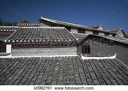 Stock Photography of Roofs Ancient Town, Guiyang, Guizhou, China.