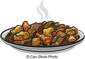 Beef stew with vegetables or goulash, traditional hungarian.