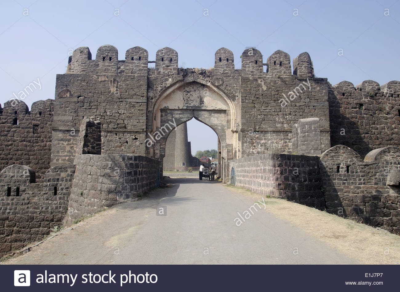 Entrance Of The Gulbarga Fort, Gulbarga, Karnataka, India Stock.