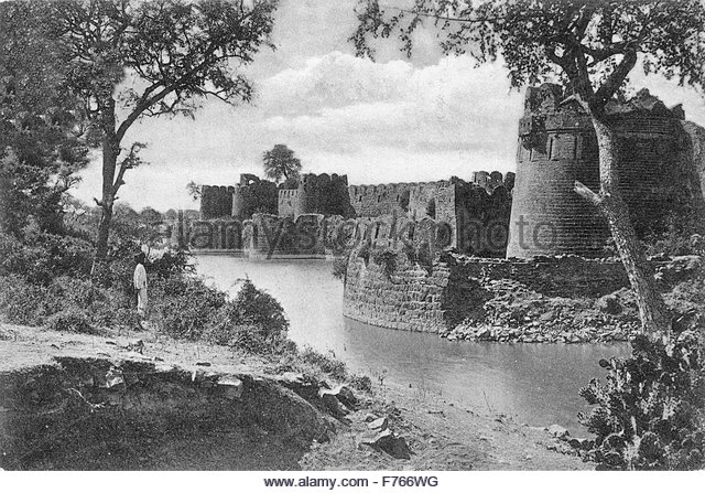 Indian Fort Black and White Stock Photos & Images.