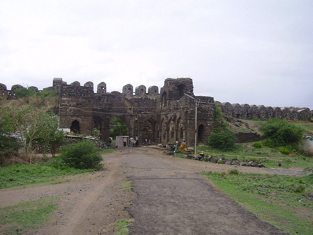 Historical Gulbarga fort and juma masjid, Karnataka.