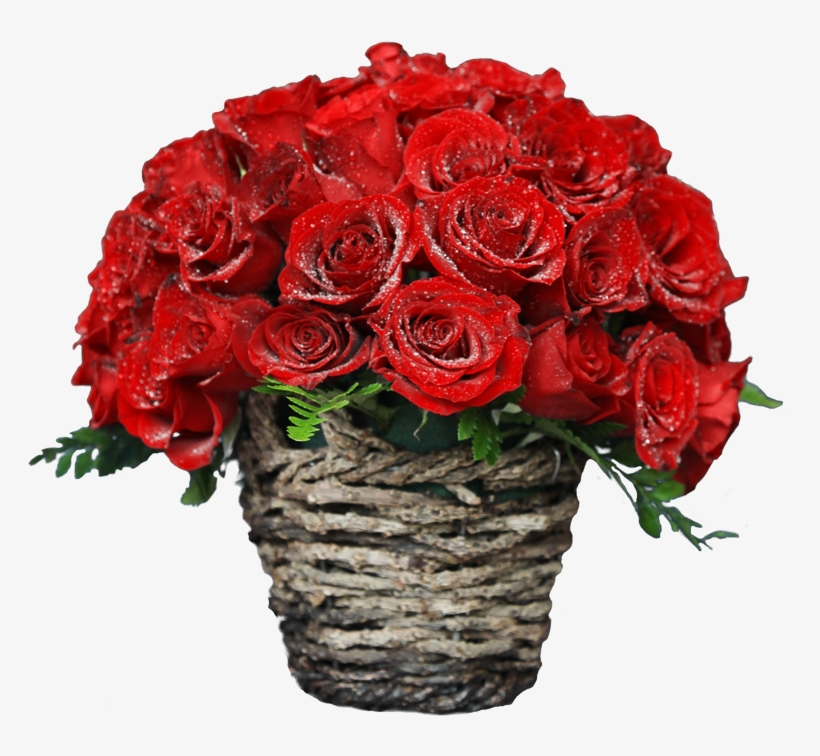 Kithul Basket With 50 Red Roses.