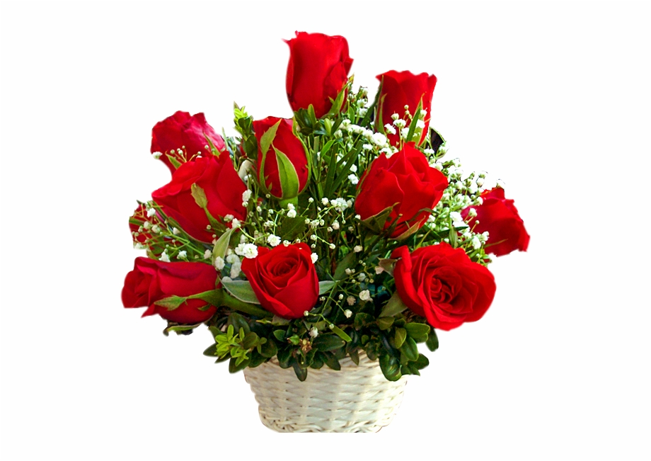 24 Red Roses Basket.