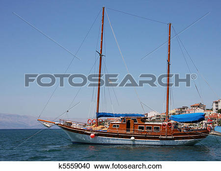Stock Photography of Traditional Turkish boat or gulet k5559040.