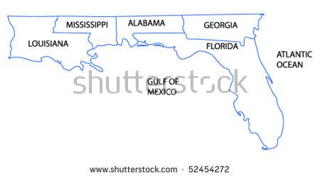 Florida Gulf Coast Stock Vectors & Vector Clip Art.