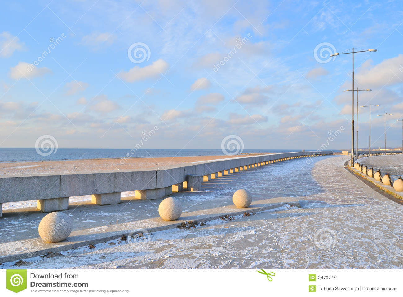 St. Petersburg. Quay Of The Gulf Of Finland Stock Image.